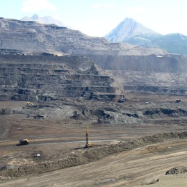 Open-pit coal mine - British Columbia