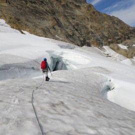 Among the crevasses - Canadian Rockies