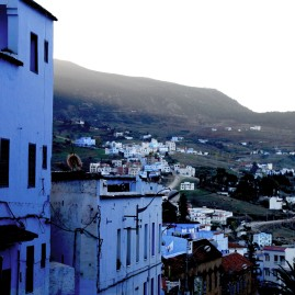 Chefchaouen, the blue city, in Maroc