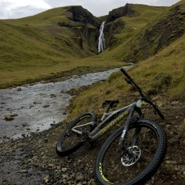 Mountain biking in Iceland.