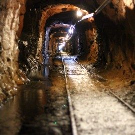 In the bowels of a mine. San Juan Mountains, Colorado.